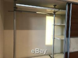 Fitted Large Wardrobe w Wood Sliding Doors, Drawers, Clothes Rail & Shelves Ikea