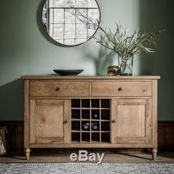 Frank Hudson Gallery Direct Cookham Oak Sideboard Large Wide 2 Door 2 Drawer
