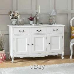 French Chateau Painted Oak 3 Drawer 3 Door Large Sideboard- BRAND NEW- FW23
