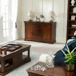 French Hardwood Mahogany Stained Large Sideboard 2 Doors 3 Drawers Unit HW20