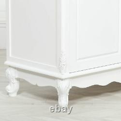 French Style Home Decor White Large 3 Door Sideboard 4 Drawers