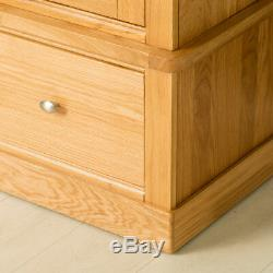 Hampshire Oak Double Wardrobe with Drawers Large 2 Door Solid Wood Tall Storage