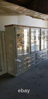 Handmade Aylesbury Next Grey MID Oak S, Cup, H12 Drawers/6 Doors Large Wardrobe