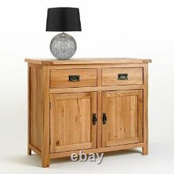 Handmade Solid Oak Sideboard Large Storage Cupboard 2Drawer Door Kitchen Storage