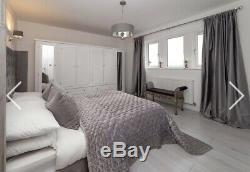 Handmade Wooden Large 6 Door 4 Drawers / Shelved /Mirrored / White Wardrobe