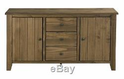 Havana Pine Large Sideboard 2 Doors & 3 Drawers Dark Pine Aztec Wax Solid Wood