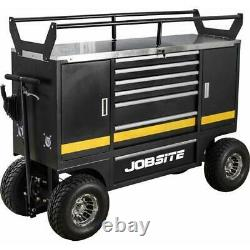 Heavy Duty Off Road Utility Tool Chest Trolley Cart Box Vehicle 7 Drawer 2 Door