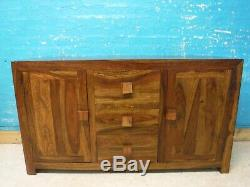 Heavy Solid (mango) Wood Large 2door 3drawer Sideboard- Visit Our Warehouse