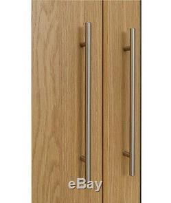 Home Normandy 3 Door 3 Drawer Large Mirrored Wardrobe Oak Effect