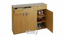 Home Venetia Large 3 Door 2 Drawer Shoe Cabinet (#49)