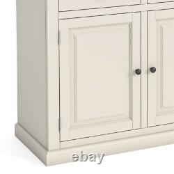 Hove Ivory Large Sideboard Unit Cream Painted Wooden Cupboard 3 Drawers 3 Door