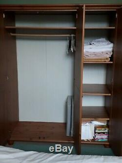 Ikea Leksvik Bedroom Set Large Solid Wood 3 Door Wardrobe And 6 Drawer Chest