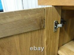 LARGE CHUNKY SOLID OAK WIDE 2DOOR 5DRAWER SIDEBOARD H78 W17cm-visit our shop