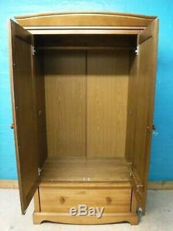 LARGE WIDE DOUBLE 2DOOR 1DRAWER WARDROBE H188 W108cm VISIT OUR WAREHOUSE