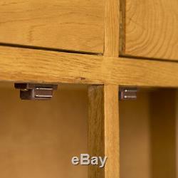 Lanner Oak Large Sideboard Cabinet 3 Door 3 Drawer Rustic Solid Wood Cupboard