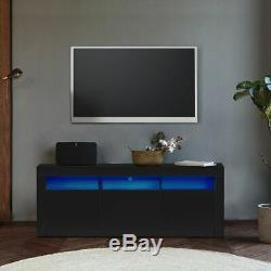Large 160/200 CM TV Cabinet TV Stand Matt Body & High Gloss Doors LED Light