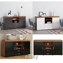 Large 2 Door 2 Drawer Sideboard Cupboard TV Cabinet Home Living Room Furniture
