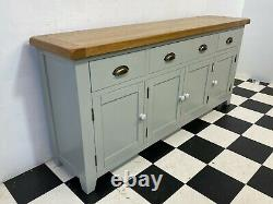 Large Hampshire painted oak sideboard four door three drawer RRP £529 Delivery
