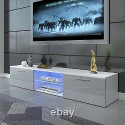 Large Modern LED TV Unit Cabinet Stand Matt Body High Gloss Doors Drawer 160CM