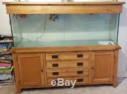 Large Oak Aquarium 420 Litre, AquaOak 180cm Doors and Drawers