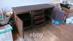 Large Rustic Sideboard made from recycled Indian Sleepers 2 doors, 4 drawers
