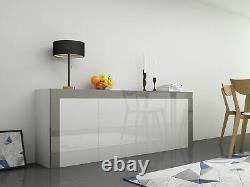 Large Sideboard Cabinet Modern Living Room Cupboard Unit Cabinet 3 Door 2 Drawer