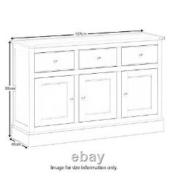 Large Sideboard Cabinet Solid Wood Unit 3 Door 3 Drawer Oak Chichester Country