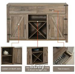 Large Sideboard Cabinet Vintage Cupboard Drawer Storage Unit Furniture 2 Doors