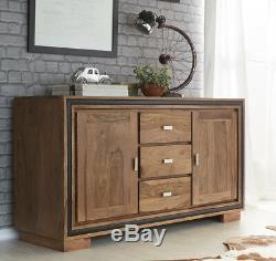 Large Sideboard with drawers and doors Stone Sheesham Collection