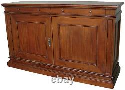 Large Solid Mahogany Sideboard 2 Doors 2 Drawers Traditional Style CBN009