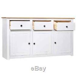 Large Solid Wood Sideboard Cabinet Storage Cupboard Furniture 3 Drawers Doors UK