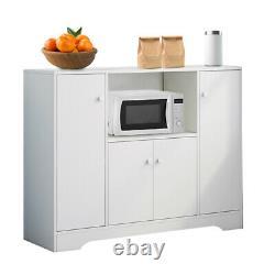 Large Storage Cabinet Kitchen Larder Storage Pantry With 4x Doors & 1x Drawer