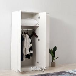 Large Triple Gloss 3 Door 3 Drawer Wardrobes Modern Furniture Bedroom Clothes UK
