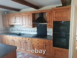Large used kitchen, Schreiber, soft close oak doors and drawers, dismantled
