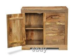 Light Mango Wood Large Sideboard (h68l)
