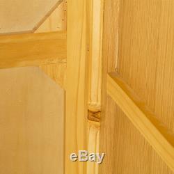 London Oak Triple Wardrobe with 2 Drawers 3 Door Large Light Solid Wood Modern