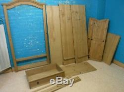 MEXICAN CORONA LARGE SOLID WOOD 2DOOR 1DRAWER WARDROBE H190 W102cm- more listed