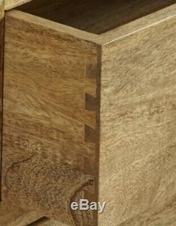 Mantis Light Solid Mango Large 2Door/4 Drawer Cabinet Sideboard Oakfurnitureland