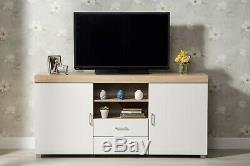Modern High Gloss Doors TV Unit TV Stand Cabinet Sideboard with Drawers Shelves