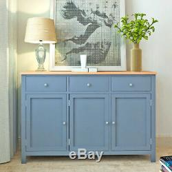 Modern Large Oak Sideboard Wooden Chest of 3 Drawers Cabinet with 3 Doors