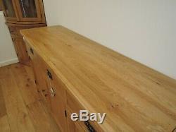 NEW LARGE VANCOUVER PREMIUM 185cm WIDTH, OAK 3 DRAWER 3 DOOR SIDEBOARD VXD017