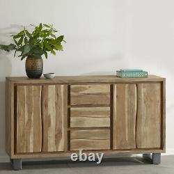 Natural Essential Live Edge Extra Large Sideboard With 2 Doors And 3 Drawers