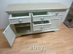 New Chunky Linen & Cashew 2 Door 6 Drawer Large Sideboard DFS Furniture Store