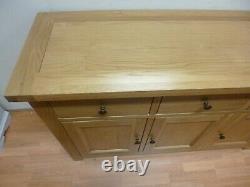 New Large Solid Country Oak 3 Door 3 Drawer Sideboard Furniture Village