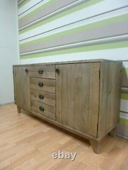 New Retro Large Reclaimed Wood 2 Door 4 Drawer Sideboard DFS Furniture Store