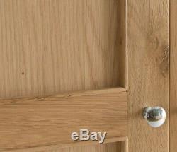 Normandy Oak 2 Door 1 Drawer Wardrobe / Oak Double Robe / Large Double Wardrobe