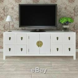 Oriental Chest of Drawers Sideboard Buffet Large TV Cabinet 8 Drawers 2 Doors