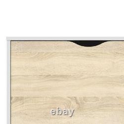 Oslo Range- Sideboard Large 3 Drawers 2 Doors in White and Oak