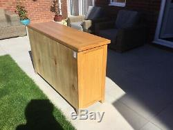 Perfect Large Contemporary Quality Solid Oak Sideboard RRP £1400 3 Drawer 3 Door
