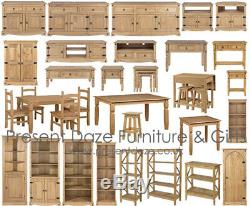 Premium Corona Solid Pine Mexican Style Dining and Living Room Furniture